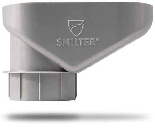 SMILTER Laubfilter für Regenfallrohre DN100 - PVC frei! - verschiedene Farben (Silber Metallic)