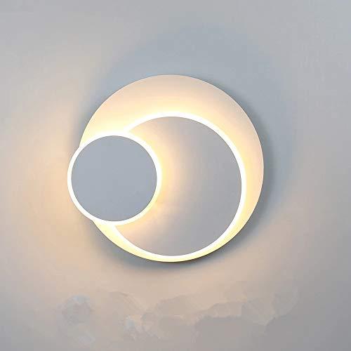 LED Wandleuchte 15W Wandlampe 350° drehbar Wandspot aus Aluminum, Kreative Eclipse 3 in 1 Schutz innen Modern LED Wandbeleuchtung außenleuchte 3000K Warmweiß für Schlafzimmer, Wohnzimmer, Korridor