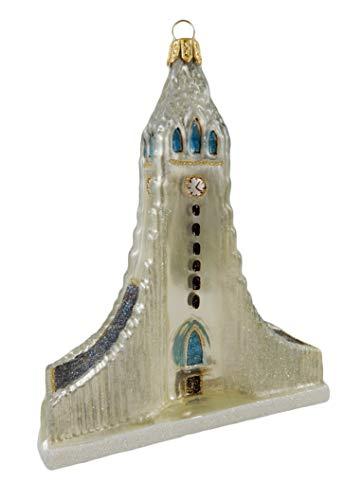 Iceland Reykjavik Souvenir Hallgrimskirkja Cathedral Lutheran Church Landmark Polish Glass Christmas Ornament Travel Gift
