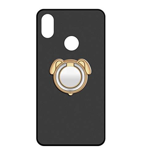 Sunrive Für Alcatel Shine Lite 5080X Hülle Silikon, 360°drehbarer Ständer Ring Fingerhalter Fingerhalterung Handyhülle matt Schutzhülle Etui Hülle (Farbe Golden)+Gratis Universal Eingabestift MEHRWEG