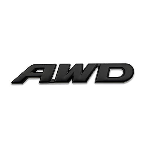 3D Chrome Metal AWD Car Emblem Large All Wheel Drive Logo Badge OFF Road Sticker Pickup Truck Decal (Black)