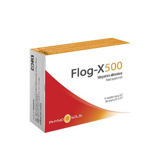 AURORA NUTRICEUTICS - FLOG-X 500, Integratore Alimentare a Base di Enzimi Digestivi, Bromelina, Pepe Nero e Curcuma Indicata per la Funzionalità Articolare, 45 Capsule