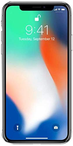 Apple iPhone X, 256GB, Silver - For Sprint (Renewed)