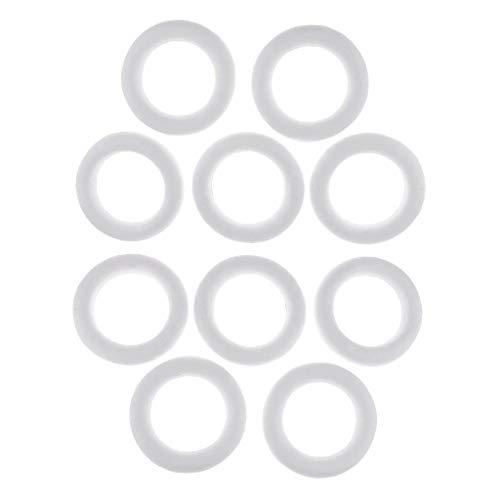 Baoblaze 10 Stücke Weiß DIY Kreis Ring Styropor Styropor Schaum Für Kinder DIY Handwerk