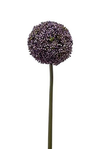 artplants.de Künstliche Blume Allium BOUTROS, blau, 75cm - Kunstblume Zierlauch