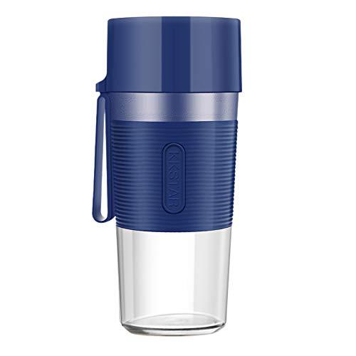 Lopbinte - Batidora eléctrica portátil de 400 ml, potente taza de zumo eléctrico para gimnasio de viaje
