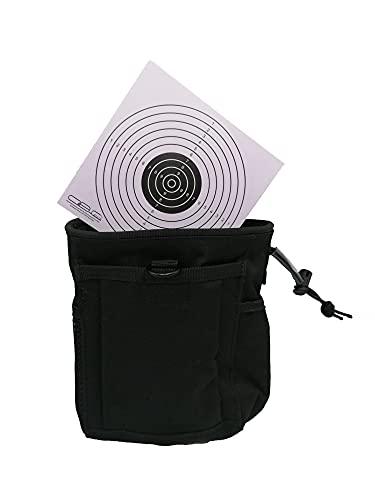 Glac Store Bolsillo táctico militar negro para llevar todos los cargadores, utilidad de airsoft, caza, cinturón o chaqueta y diana Target de cartón
