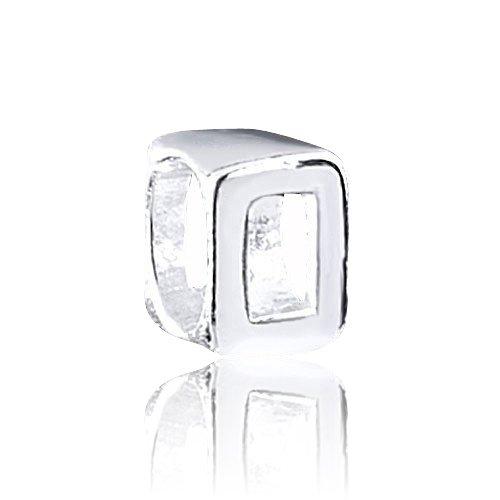 MATERIA sieraden 925 zilveren kralen cijfer 0 - cijfers charm voor European Beads armband #1492