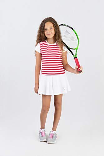 EMZA Tenniskleid (Rot+Weiß, 104-110)