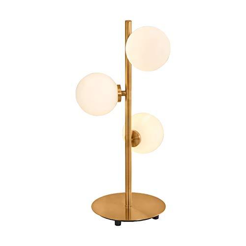 Wtuxchib Tischlampe Moderne Glaskugeln Tischlampen LED-Esszimmer-Tischleuchte (Body Color : 3 Heads)