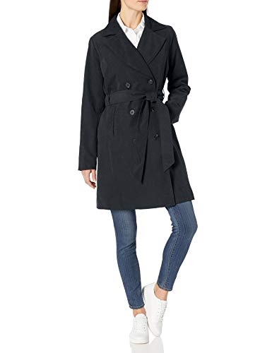 Amazon Essentials Water-Resistant Trench Coat Trenchcoats, Nero Ardesia, US (EU XS-S)