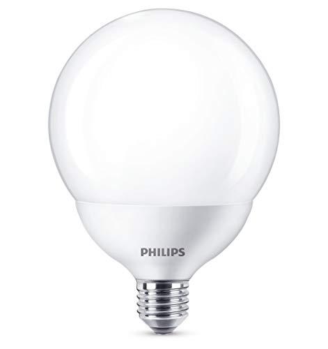 Philips bombilla LED globo, casquillo gordo E27, 17 W equivalentes a 120 W en incandescencia, 2000 lúmenes, luz blanca neutra