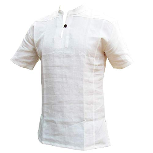 PANASIAM Fisherman Shirt, 100% hemp, white, L, SS
