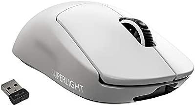 Logitech G PRO X Superlight Wireless Gaming Mouse, Ultra-Lightweight, Hero 25K Sensor, 25,600 DPI, 5 Programmable Buttons, Long Battery Life, Compatible with PC/Mac - White