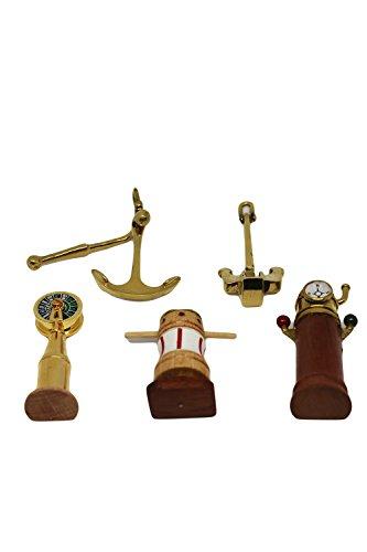 EL REMITGER Pack de Accesorios náuticos para Cuadros de Nudos o Marineros 5 Unidades