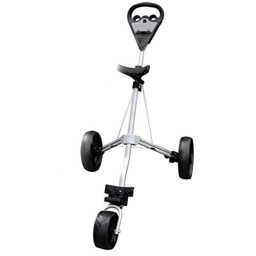 haozai Golf Trolleys 3 Rad Golf Push Cart,Golfwagen Golf Klappbar Golfcart Mit Abschließbarem Rad Klappbarer Golfwagen