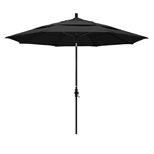 California Umbrella GSCUF118705-F32-DWV Patio Umbrella, Black Pole