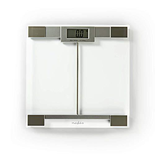 Nedis Báscula personal Nedis - Báscula Personal Digital - Vidrio Templado - Máx. 180 kg - Transparente Transparente
