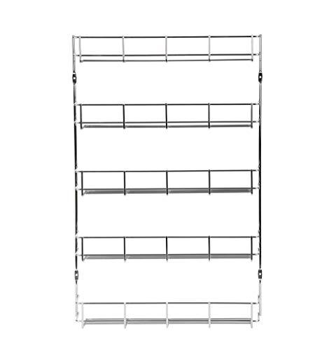 Exzact EXSR004-5 Gewürzregal 5 Ebenen/Kraut und Gewürzregal 5 Tiers - Küchenregal Organizer für Gläser, perfekt platzsparend. Wandmontage oder Schranktürbeschlag (im Lieferumfang enthalten).