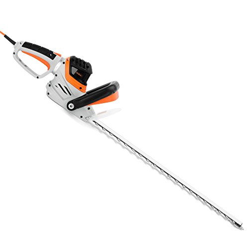 """Vonhaus 710W Rotating Handle Electric Hedge Trimmer / Cutter With 61Cm/24"""" Blade, Blade Safety..."""