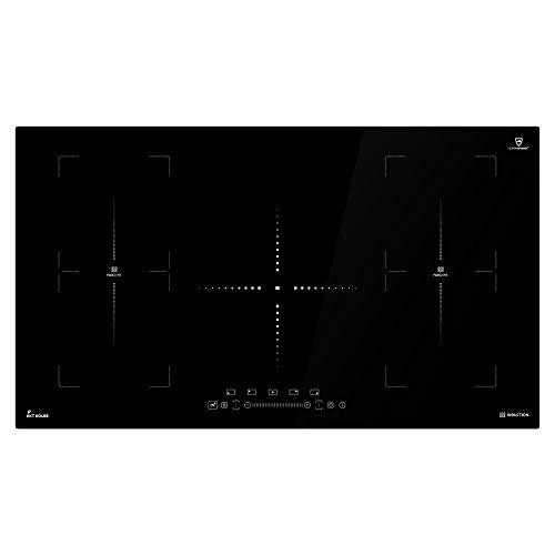 Induktionskochfeld 90cm (Autark, 9kW, 9 Stufen, 5 Zonen, 2 Flex-Zonen, Rahmenlos, TouchSelect Sensortasten, Slider-Steuerung, Booster, LED-Anzeige, BBQ-Funktion) IND9052FZ - KKT KOLBE