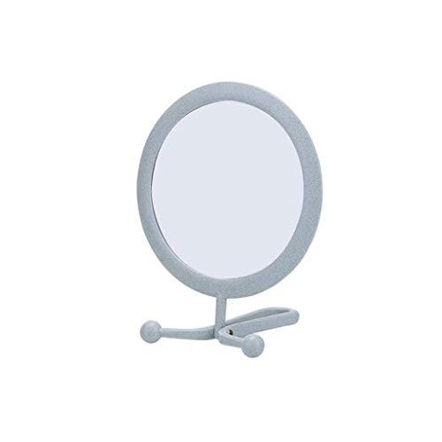 ZYLZL Espejo, baño, montado en la pared, tocador, Esktop Espejo de maquillaje Espejo de doble cara Espejo de pared plegable portátil Espejo de baño,Verde,El 11 * 14 * 16cm