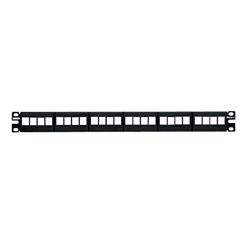 Synchronisatie-nkfp24y category-6 24-poorts vlak modulair patchpaneel, zwart
