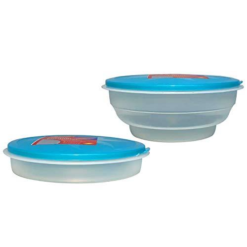 BITALY Recipientes plegables para almacenamiento de alimentos con tapa hermética para pasteles fiambrera sin BPA hermética a prueba de fugas cocina comedor lavavajillas congelador 700 ml azul