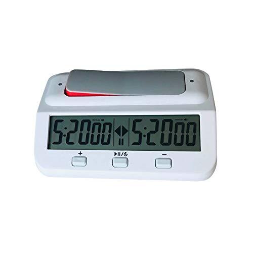 HINK Ajedrez Reloj de ajedrez Digital básico y Temporizador de Juego, Reloj Temporizador de Reloj Digital, Herramientas para el día de San Valentín y mejoras para el hogar