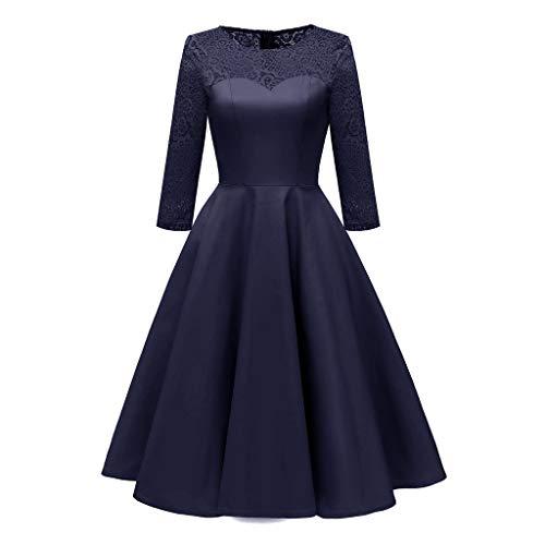 Vestido De Noche para Mujer, Vestido De Rock Country Vintage De Los Años 50, Vestido De Cóctel De Dama De Honor De Boda Formal Blue S