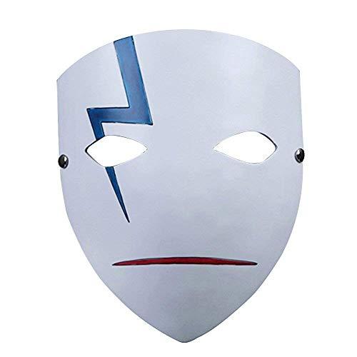 Polyresin Maske Halloween Kostüm, Xinxun Film Theme Harz Maske für Halloween Party, Maskenball, Maskerade Kostüm Partei Cosplay Geschenk (Darker Than Black)