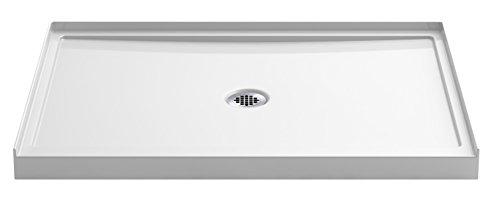 """KOHLER K-8659-0 60"""" x 42"""" Rely single-threshold shower base with center drain, White"""