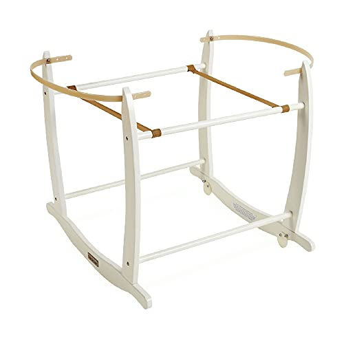 Clair de Lune Deluxe Rocking Moses basket stand (bianco)