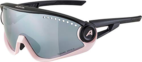 ALPINA Unisex - Erwachsene, 5W1NG Sportbrille, light-rose-black matt, One Size