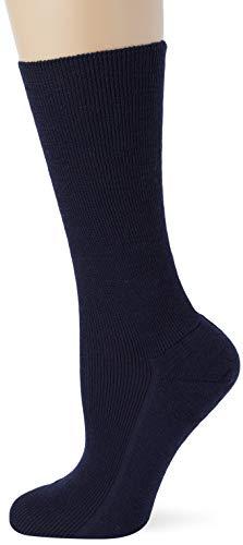 Lusana Herren Komfortstützsocke MIDDLE Socken, Blau (Marine 06), 42/43