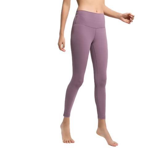 QTJY Pantalones de Yoga Ajustados con Cintura Alta para Mujer, Pantalones Sexis y Suaves para Correr, Pantalones de Entrenamiento para Celulitis, Pantalones de chándal G M