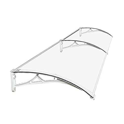 LIQICAI Pensilina Tettoia Tenda da Veranda Pensilina per La Protezione da Pioggia E Neve All'aperto Riparo della Copertura del Patio Tendalino Parasole Veranda (Color : Chiaro, Size : 60x180cm)