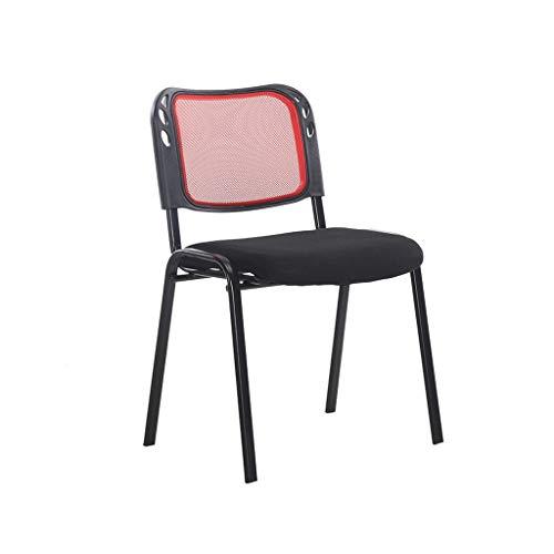 Meeting Chair Bürostuhl, klappbarer Computerstuhl, Task Mesh Chair Metallfuß für Heim & Büro, Schwarz