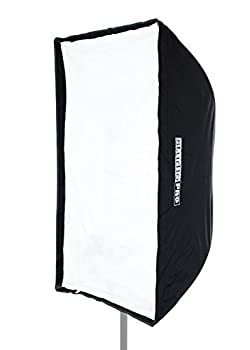 Fovitec - 1x 24 x36  Photography Speedlight Softbox - [Easy Set-up][Durable Nylon][Collapsible][Grid Included][Lightweight]