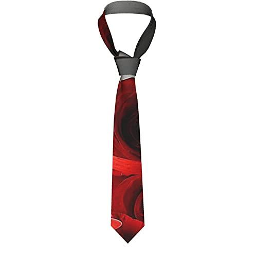 LKKPT Copa de vino rosado rojo y vela Corbata para hombre Corbata Corbatas para el cuello Gran regalo para bodas Fiesta Novio Padrino de boda Bailes