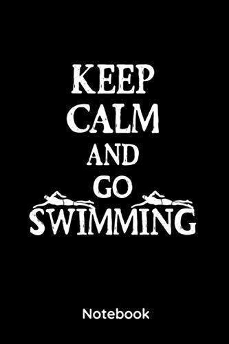 Keep calm and go swimming: 6x9 Notizbuch, Planer Kariert Schwimmer | Taucher | Notizheft 120 Seiten