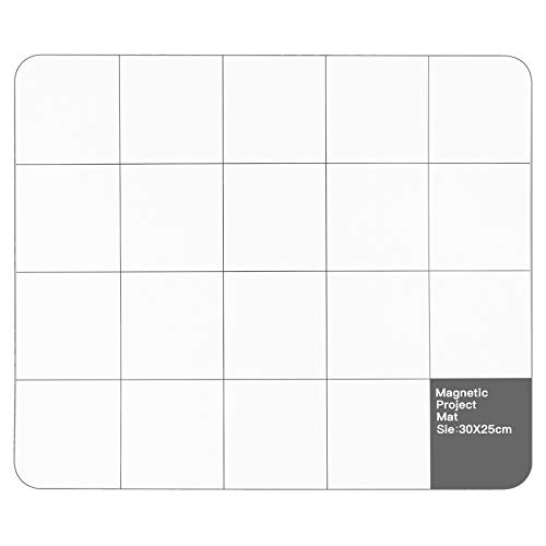 Magnetic Project Mat, 11.8x9.8 Inch Magnetic Mat for Computer Repair Screws, Magnetic Work Surface, Prevent Small Screws Losing, Magnetic Repair Mat Compatible for iPhone, Cellphone, Laptop