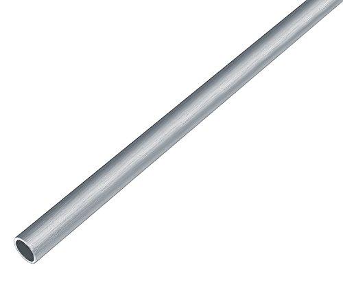 GAH-Alberts 488888 Rundrohr - Aluminium, edelstahldesign, hell, 1000 x 10 x 1 mm