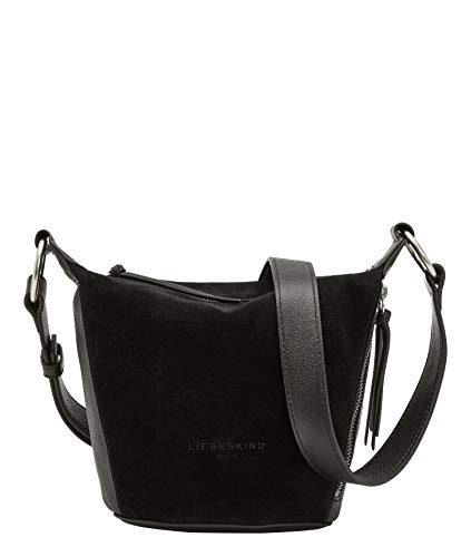 Liebeskind Berlin Rose Crossbody Umhängetasche, Small (20 cm x 15.5 cm x 12cm), black