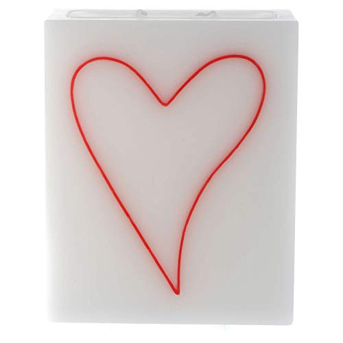 Holyart Bougie Rectangle Coeur