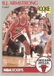 B.J. Armstrong 1990-91 Hoops Rookie Card #60