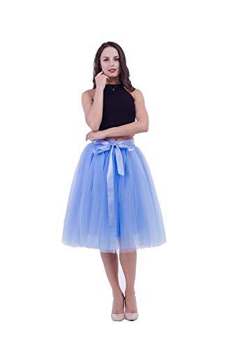 Vrouwen zomer A lijn casual jaren 60 trendy prachtige modieuze riempjes dames onderrok tuturock petticoat knielange