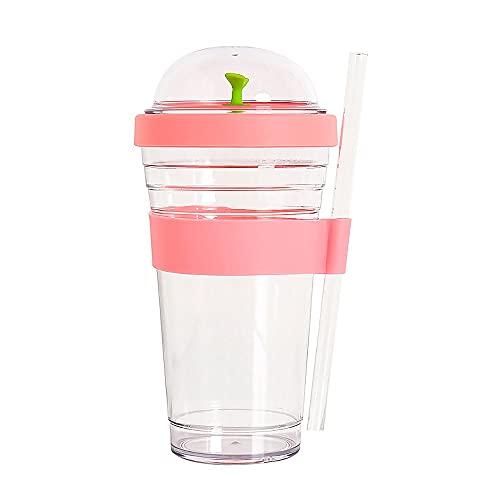 SOOBE Tazas de té de burbujas, 480 ml, vasos de plástico reutilizables...