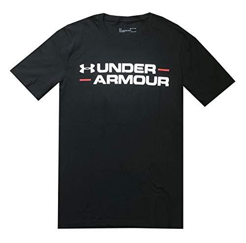 Under Armour Mens HeatGear Logo Graphic Cotton T-Shirt (S, Black)