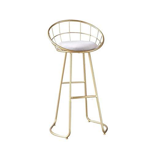 MUMUMI Sedie, Sedia da Bar in Ferro Sgabello Alto Moderno Minimalista Sedie Creative per la Casa, Sedile Imbottito Rotondo, Sgabello in Metallo con Altezza Bar con